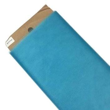 """Turquoise blue 54"""" SHIMMER tulle fabric / 1-5 yards"""