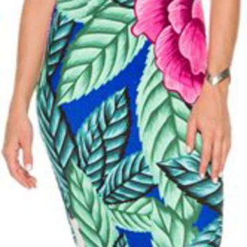 MARA HOFFMAN TIE FRONT MIDI DRESS | Swell.com