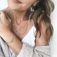 Dainty Triple Layer Necklace