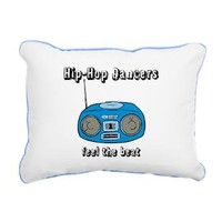 Feel The Beat Rectangular Canvas Pillow