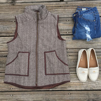 Herringbone brown vest