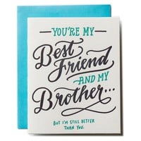 Best Friend Brother Card