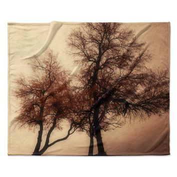 "Sylvia Coomes ""Rust Trees"" Photography Nature Fleece Throw Blanket"
