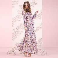 LC Lauren Conrad Runway Collection Floral Peasant Maxi Dress - Women's