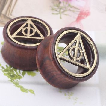 Deathly Hallows Wooden Ear plugs