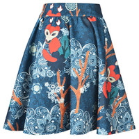 Fox Paisley Print Skirt