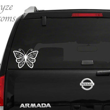 Butterfly Outline Car/Computer vinyl decal / Please put color choice in note to seller.
