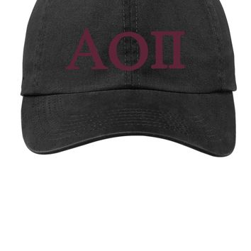 AOII / Alpha Omicron Pi / Choose Your Colors / Sorority Cap