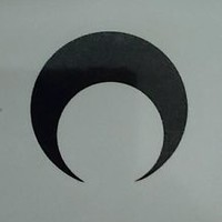 "Sailor Moon - Black Crescent Moon temporary tattoo (1.5 x 1.5"")"
