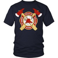 Firefighter T Shirt - Fueled by Hell's fire Driven by courage