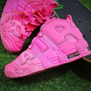 DCC3W Nike Air More Uptempo QS Retro Pink Basketball Shoes