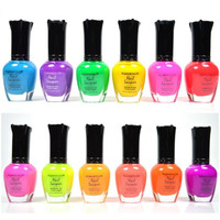 12 PC SET NEON Full Size Lacquer Nail Polish