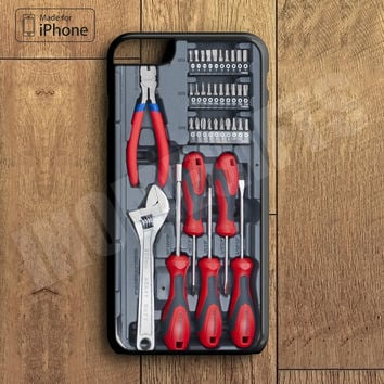 Toolbox Toolkit Tools Phone Case For iPhone 6 Plus For iPhone 6 For iPhone 5/5S For iPhone 4/4S For iPhone 5C iPhone X 8 8 Plus