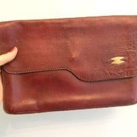 vintage 70s OXBLOOD Bohemian Clutch by styleforlife on Etsy