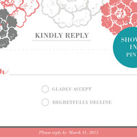 Printable Customized Wedding Set: RSVP Card