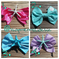 Mermaid Starfish Fantasy Fest Bows! Choose 1 of the 4 listed hair bows! READY TO SHIP!