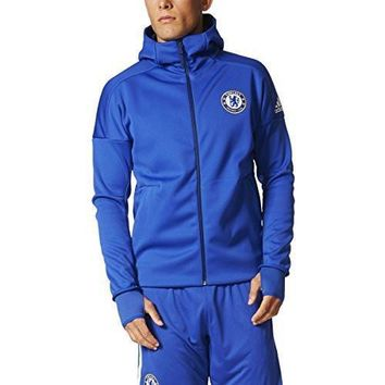 adidas Chelsea FC Anthem Z.N.E. Hoody Mens NEW BQ8732 BLUE