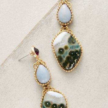 Angelite Jasper Drop Earrings