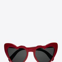 NEW WAVE 181 LOULOU Sunglasses in Shiny Red Acetate with Grey Nylon Lenses