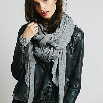 Free People Womens Easy Lover Fine Guage Scarf
