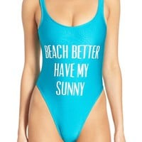 Private Party 'Beach Better Have My Sunny' One-Piece Swimsuit | Nordstrom
