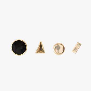 Gold Earstack stud Earring Set