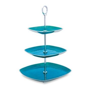 Simplydesignz Bodoni Collection 3-Tier Server in Turquoise