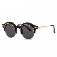 Steampunk Sunglasses in Black and Gold