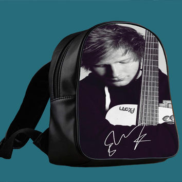 Ed Sheeran and guitar for Backpack / Custom Bag / School Bag / Children Bag / Custom School Bag *