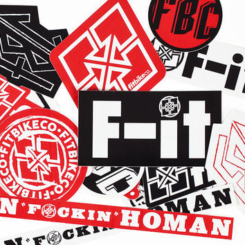 Fit BMX Mixed 15 Sticker Pack