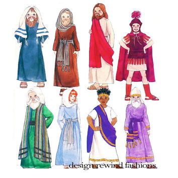 Boy & Girl PASSION PLAY COSTUME Patterns Jesus Mary Apostles Easter Play Costumes  McCalls 3534 Craft Sewing Patterns Size 7 - 16 UNCuT