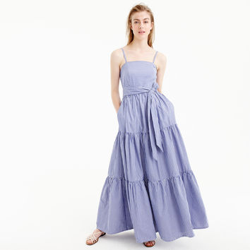 Tiered maxi dress in stripe : Women day | J.Crew