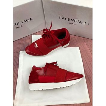 BALENCIAGA Trending Women Men Stylish Casual Shoes Red(White Sole) I-OMDP-GD