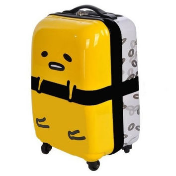"Sanrio Gudetama Watsons Limited 18"" Sushi Board Chassis Roller Baggage Travel Bag Trunk"