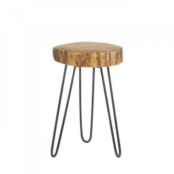 Log Top Accent Table