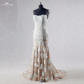 Backless Gold Sequin Mint Green Prom Dress