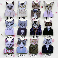 Acrylic HARAJUKU Badge Cat Brooches Pin Up Collar Tips Epaulette Enamel Broche Christmas Gifts Channel Brooch