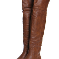 Gia Tan Leather Look High Leg Wader Boots