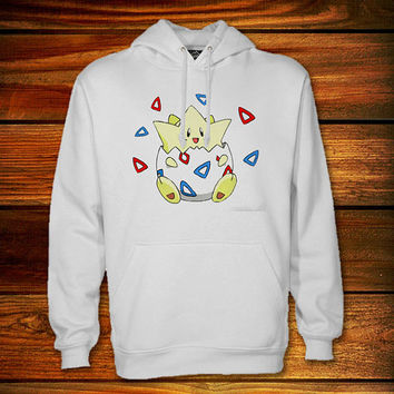 Pokemon Togepi Hoodie,Pokemon Togepi Sweater Black and White