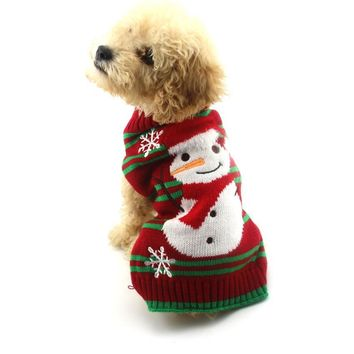 Christmas T-shirt Vest Apparel Wear for Dogs