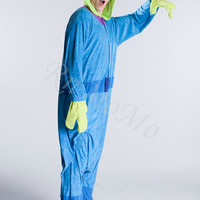 KIGURUMI Cosplay Romper Charactor animal Hooded PJS Pajamas Pyjamas Xmas gift Adult  Costume sloth  outfit Sleepwear -Aliens