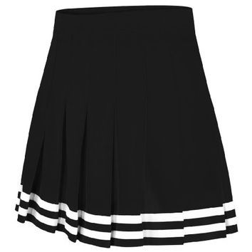 Double Knit Knife Pleat Skirt Black Small