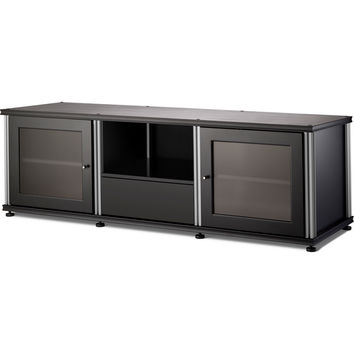Synergy 65 Inch TV Stand Cabinet Center Channel Opening 4 Finishes - Black Cherry Maple Walnut