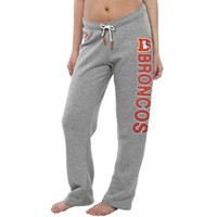 Denver Broncos Nike Women's Rally Open Hem Rewind Sweatpants – Gray