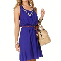 Royal Knot Back Belted Sundress