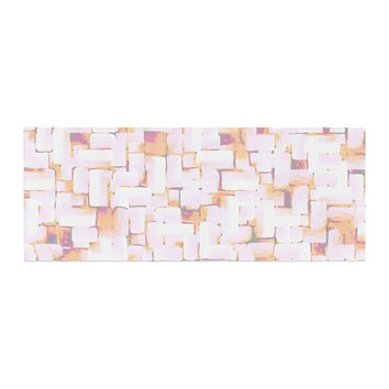 "Rachel Watson ""Cobble"" Coral Orange Bed Runner - Outlet Item"