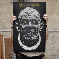 """Face The Master"" screen printed poster"
