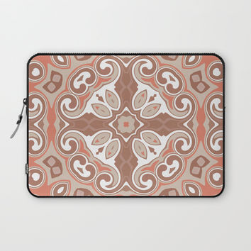 Edwardian Geo Rust Laptop Sleeve by ALLY COXON
