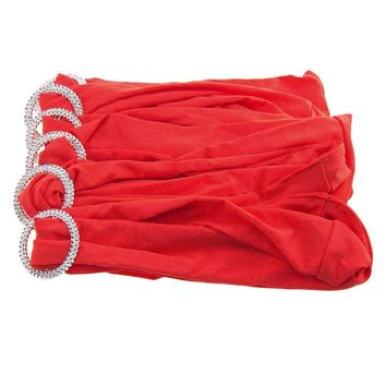 Spandex Chair Sash with Buckles, 13-Inch, 6-Piece, Red