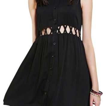 Urban Outfitters Black Cutout Dress
